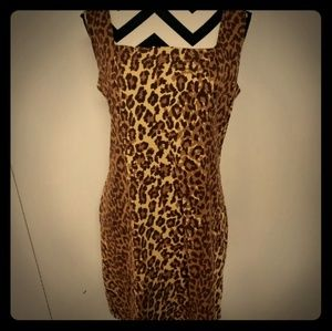Moda international vintage cheetah dress